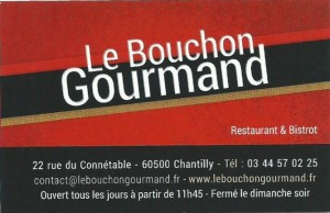 2019 Bouchon Gourmand